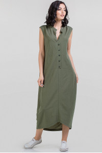 Платье «Регина» цвета хаки
