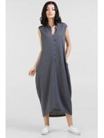 Платье «Регина» серого цвета