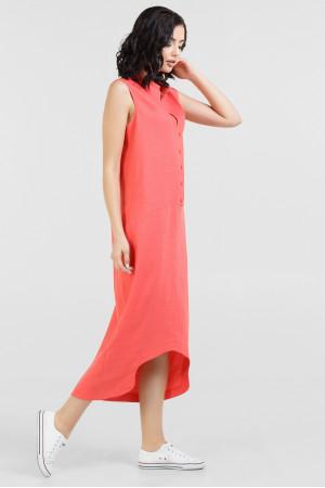 Платье «Ола» кораллового цвета