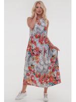 Сукня «Беата» білого кольору з помаранчевим