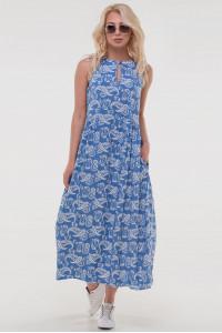 Платье «Беата» цвета джинс