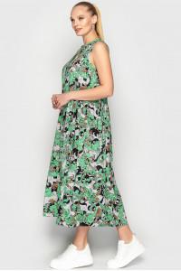 Сукня «Беата» чорно-зеленого кольору