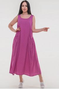 Платье «Диксилэнд» малинового цвета