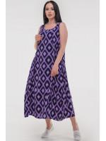 Платье «Диксилэнд» сиреневого цвета с черным