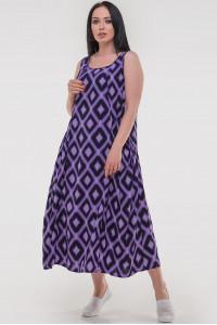 Сукня «Діксіленд» бузкового кольору з синім