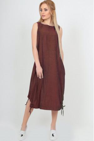 Платье «Ливи» коричневого цвета