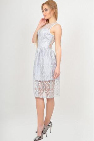 Платье «Стейси» серебристого цвета