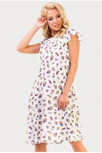 Платье «Джун» белого цвета