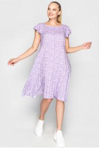 Платье «Лилас» лилового цвета с цветочками