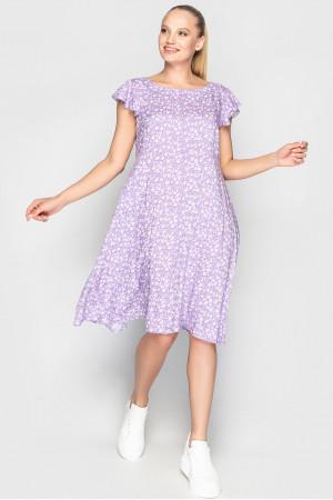 Сукня «Лілас» лілового кольору з квітами