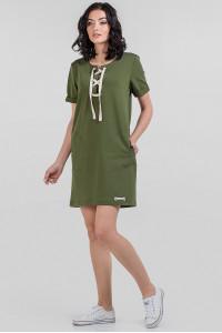 Платье «Алика» цвета хаки