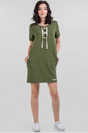 Сукня «Аліка» кольору хакі