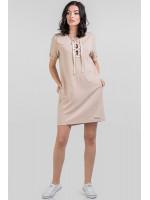 Платье «Алика» бежевого цвета