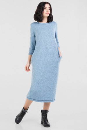 Платье «Энджи» серо-голубого цвета