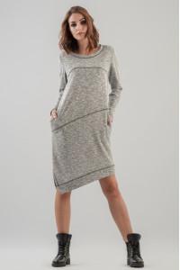 Платье «Клинт» серого цвета