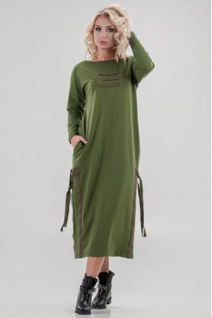 Платье «Вилен» цвета хаки