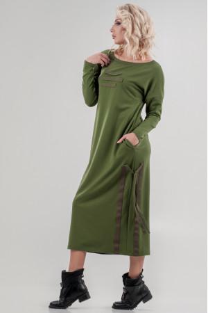 Сукня «Вілен» кольору хакі