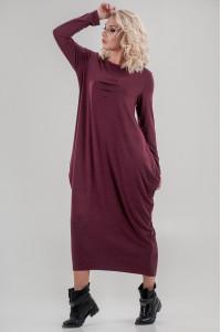Платье «Англесс» бордового цвета