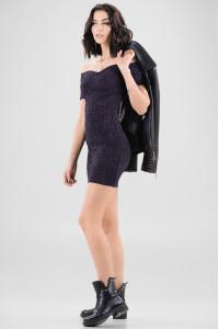 Платье «Корди» темно-синего цвета