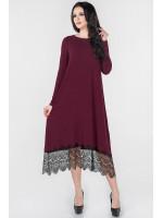Платье «Флорида» бордового цвета