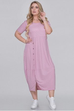 Платье «Ларста-Лето» цвета фрезии в полоску