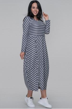 Платье «Ларста» серо-синего цвета