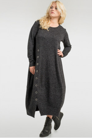 Платье «Ларста» темно-серого цвета