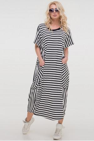 Сукня «Алкмена» в чорно-білу смужку