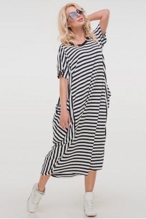 Платье «Алкмена» в черно-белую полоску
