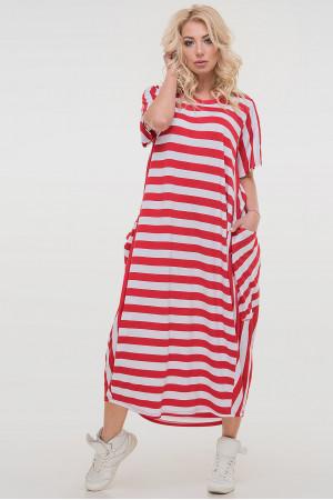 Платье «Алкмена» в красно-белую полоску