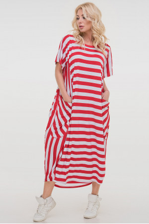 Сукня «Алкмена» в червоно-білу смужку