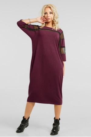 Платье «Визон» бордового цвета