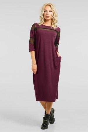 Сукня «Візон» бордового кольору