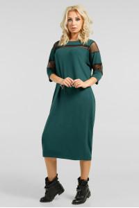 Платье «Визон» зеленого цвета