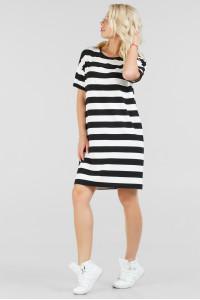Платье «Бренда» черное с белым