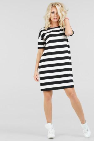 Сукня «Бренда» чорна з білим