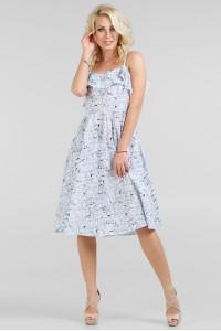 Платье «Экви» белое с синим