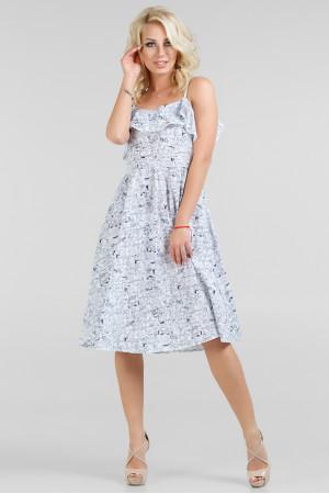 Сукня «Екві» біла з синім – купити у Києві 618e84fd22a6c