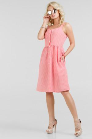 Платье «Донна» красное с белым