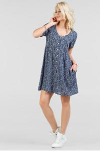 Платье «Синди» синего цвета
