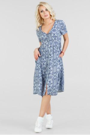 Платье «Кэрол» голубого цвета