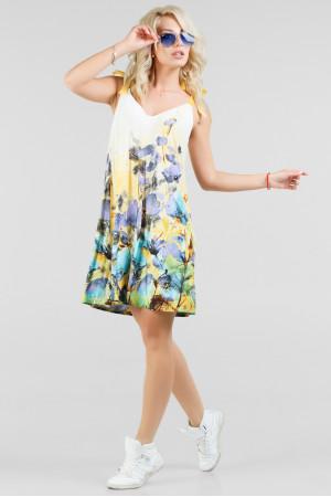 Платье «Лейла» белое с принтом