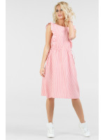 Платье «Венди» красное с белым