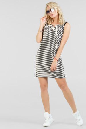 Сукня «Карла» у вузьку чорно-біло смужку