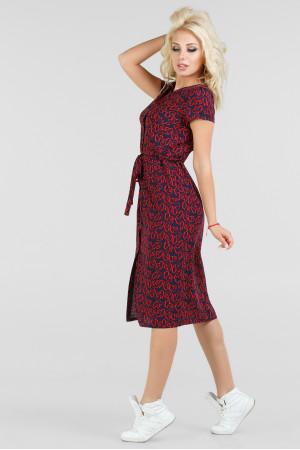 Платье «Айда» красное с синим