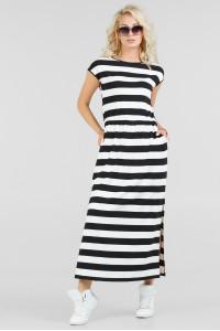 Сукня «Реіна» у чорно-білу смужку