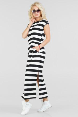 Платье «Реина» в черно-белую полоску