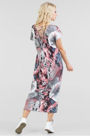 Сукня «Айда» сіра з рожевим