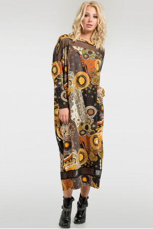 Платье «Бигольд» горчичный принт