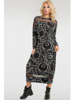 Платье «Бигольд» черный принт